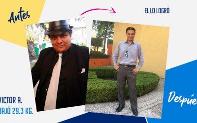 Víctor Arvizu – 39 años – 29.3 kg