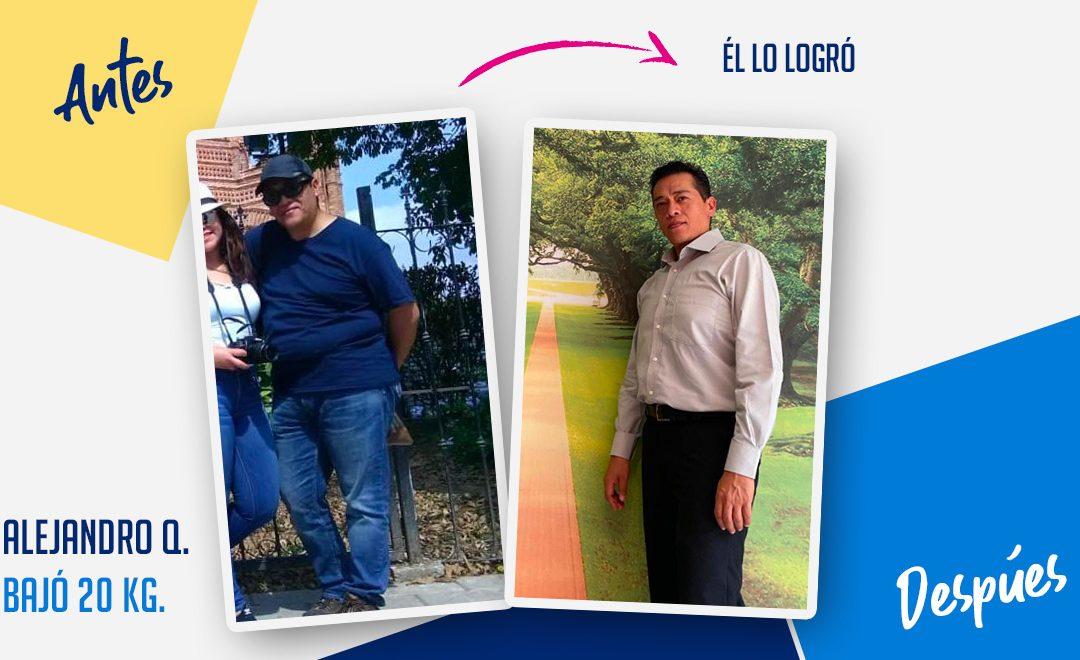 Alejandro Quintanar – 47 años – 20 kg