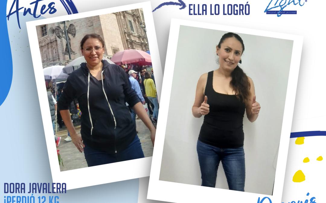 Dora Javalera – 37 años – 12 kg