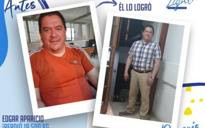 Edgar Aparicio – 45 años – 19.5 kg